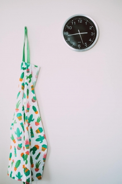 Clock and Apron